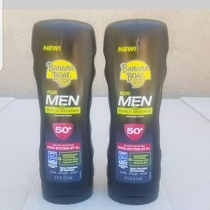 Lot of 2 Banana Boat for Men Triple Defense SPF 50